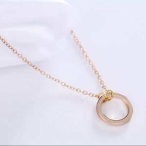 Gold Eternal Circle Necklace